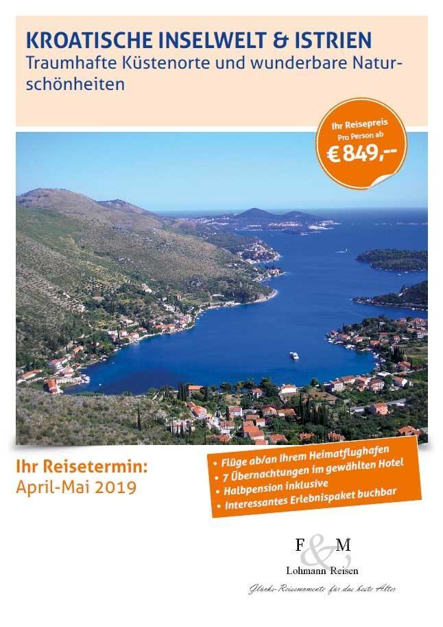 Kroatien broschuerentitel lohmann reisen 2019