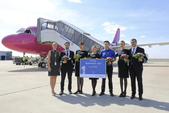 Press Photo of the First Flight with Wizz Air to Iasi