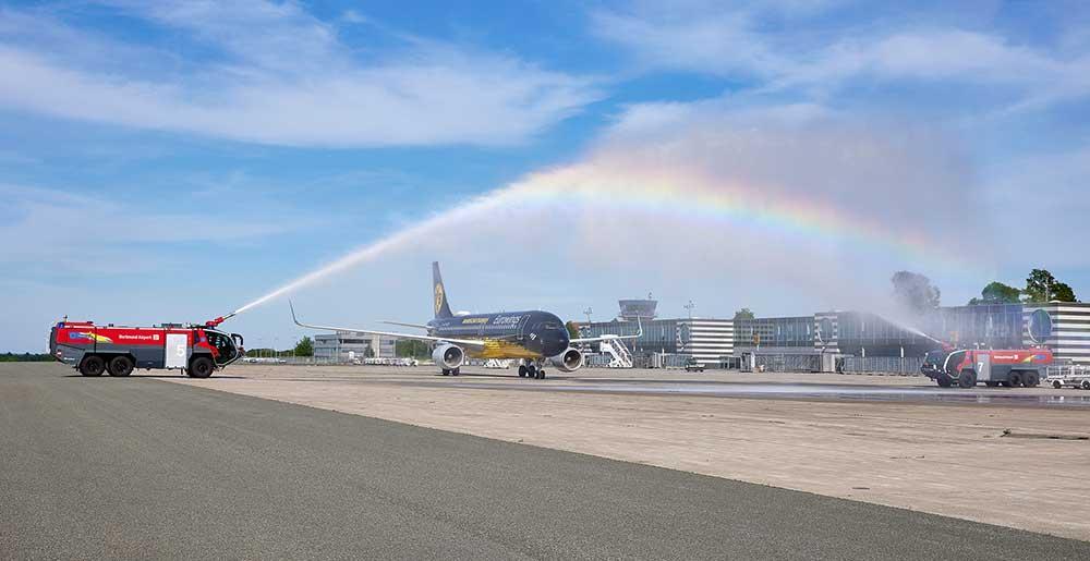 Eurowings wasserfontaene dortmund airport