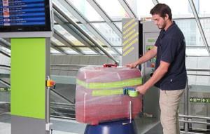 Kofferfolierung am dortmund airport