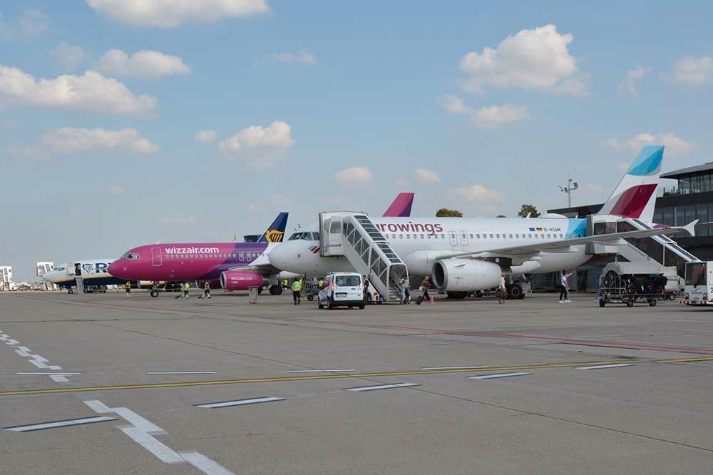 Ryanair wizz air eurowings vorfeld dortmund airport