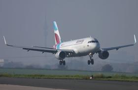 Ein Eurowings-Airbus im Anflug auf Dortmund© Sascha Kamrau