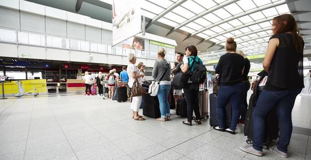 Schalter am Dortmund Airport