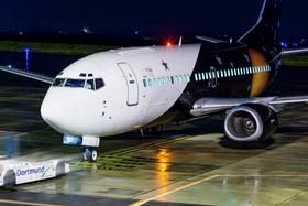 Boing 737 auf seinem Stellplatz