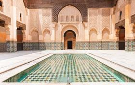 Beeindruckende Koranschule in Marrakesch.