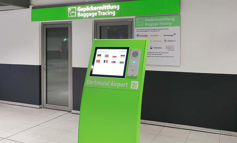 Stele gepaeckermittlung dortmund airport