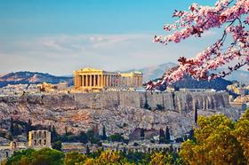 DieAkropolis in Athen im Frühjahr