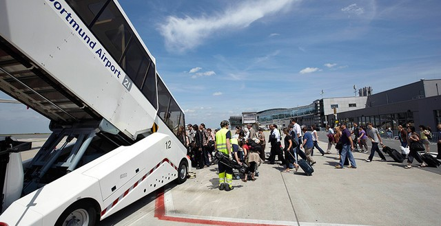 Dortmund airport evalueert vakantiedrukte