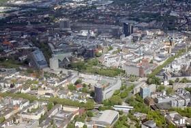 Rundflug mit dem Roten Baron - Blick auf die Dortmunder Innenstadt