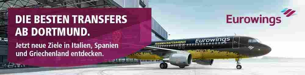 BVB-Flugzeug von Eurowings mit neuen Zielen ab Dortmund