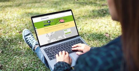 Internetseite des Dortmund Airport auf dem Computerbildschirm