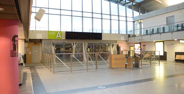Baustelle der Kontrollstelle A am Dortmund Airport