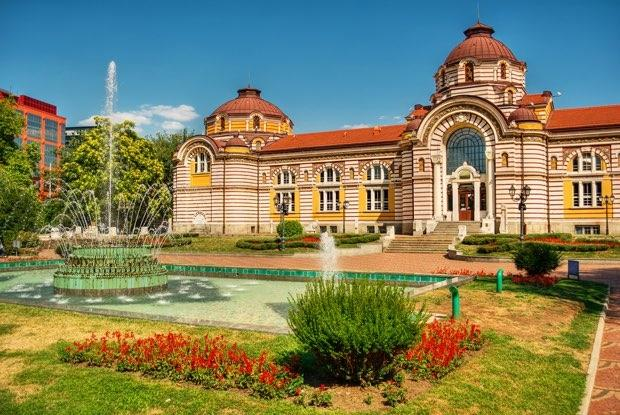 Central mineral baths in sofia bulgaria hdr technique
