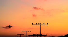Sonnenuntergang am Dortmund Airport