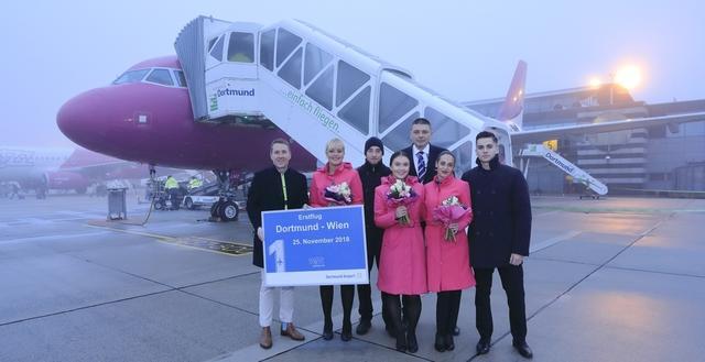 Wizz Air-Erstflug nach Wien