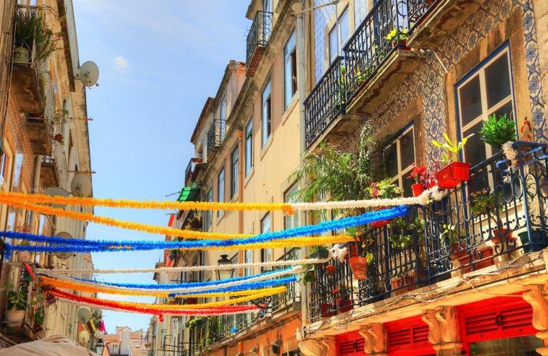 Lissabon historischer stadtteil
