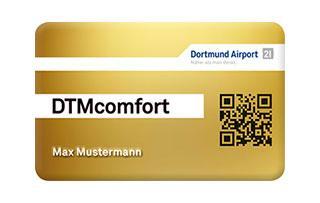 DTMcomfort: Die Kundenkarte des Dortmund Airportfür Vielflieger.