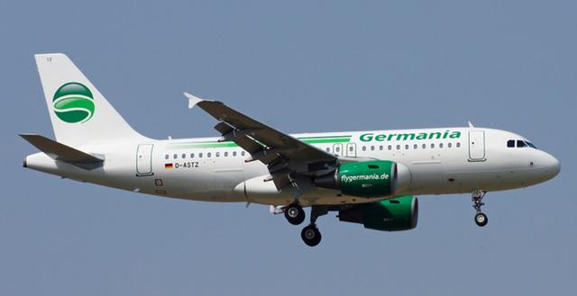 Germania Maschine im Landeanflug