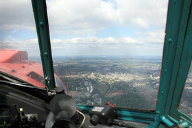 Rundflug mit dem Roten Baron - Blick aus dem Cockpit