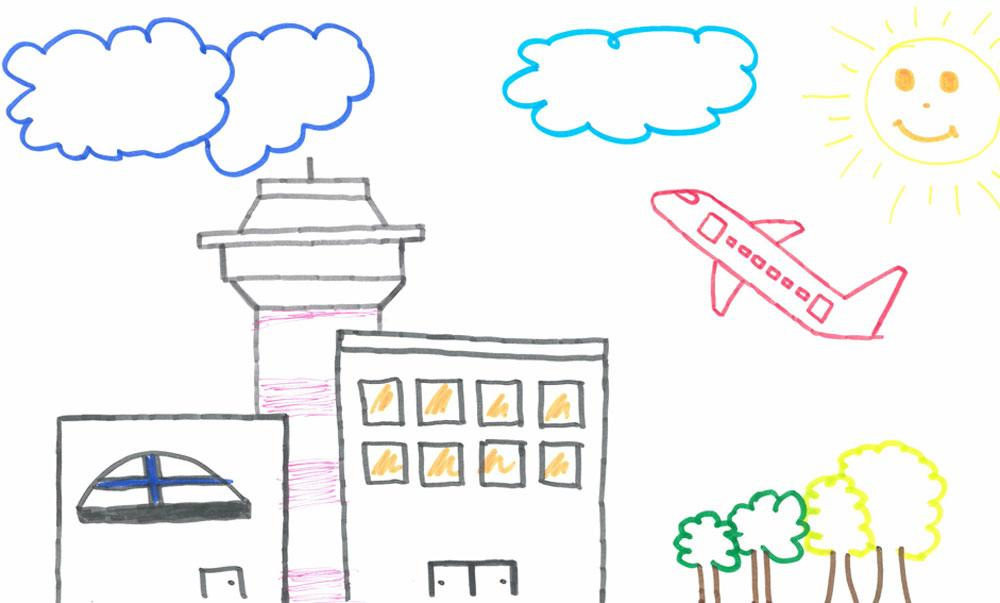 Flughafen dortmund malwettbewerb airportkids