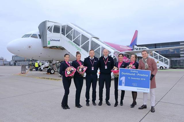 Erstflug: Mit Wizz Air von Dortmund nach Pristina.