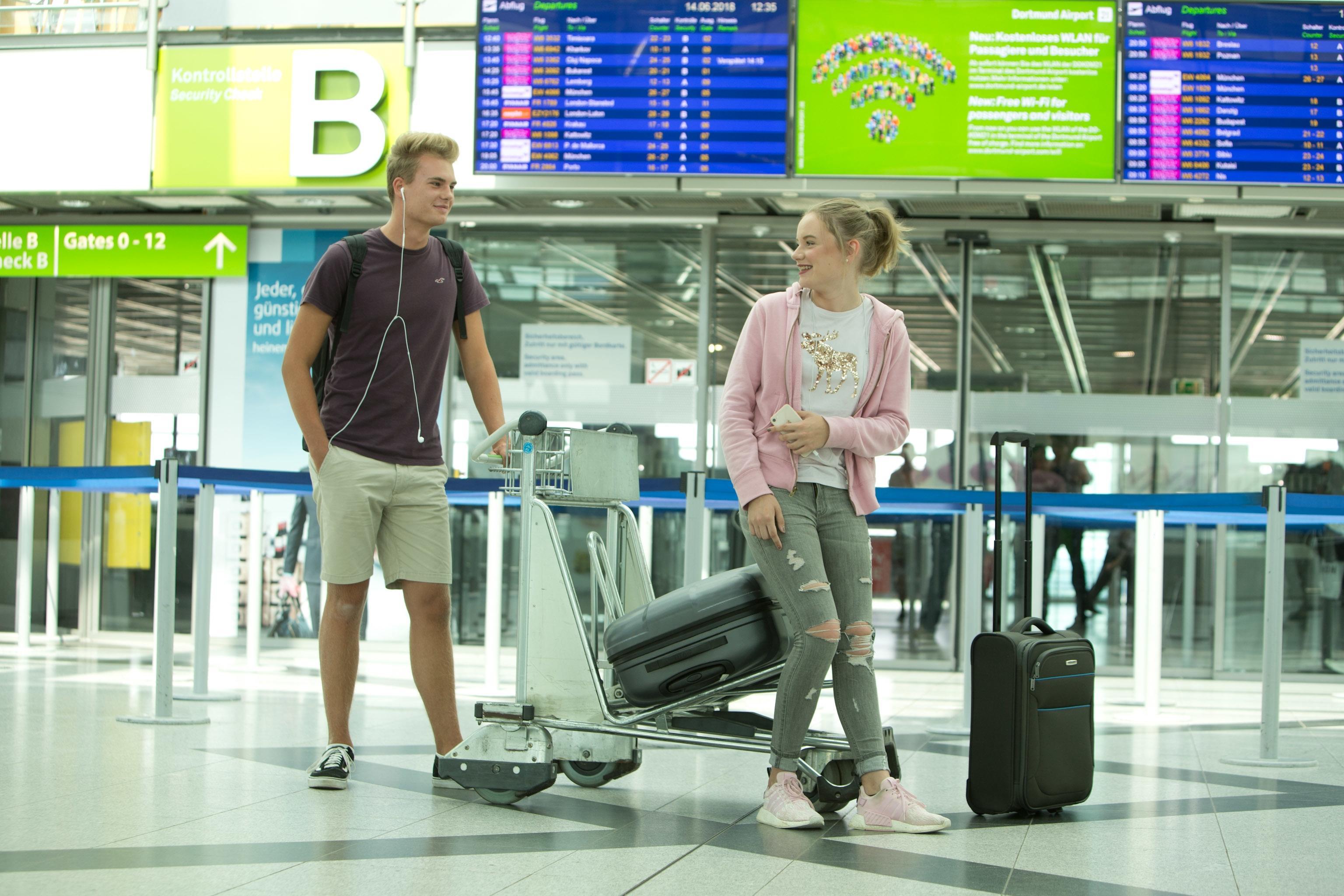 Ferienbeginn am airport