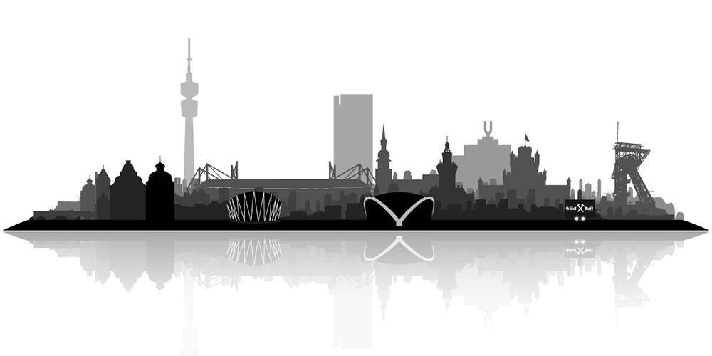 Skyline dortmund stadt