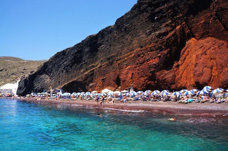 Santorini strand