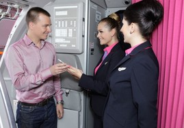 Onboarding mit Handy Ticket bei Wizz Air