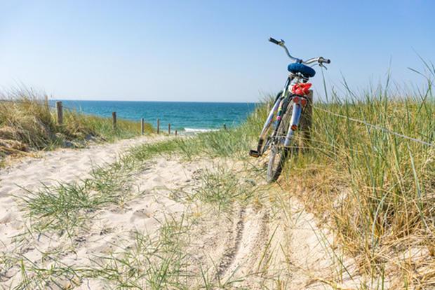 Fahrrad am strand usedom