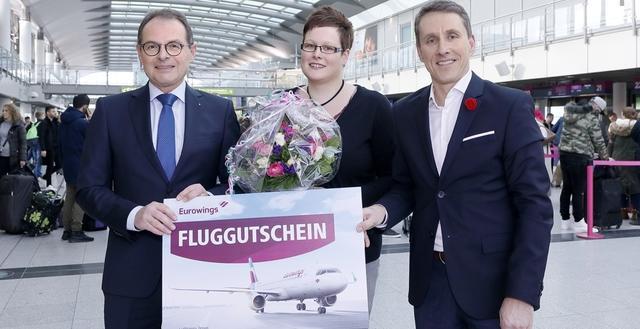 Zweimillionster Fluggast am Dortmund Airport