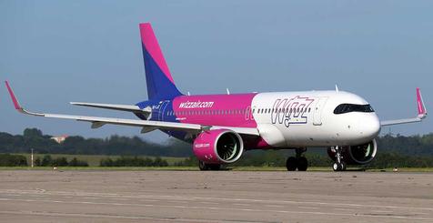 Wizz Air-Maschine am Dortmund Airport