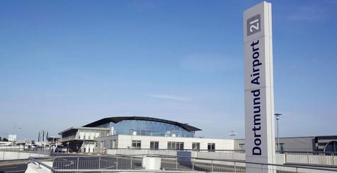 Flughafengebäude des Dortmunder Flughafens