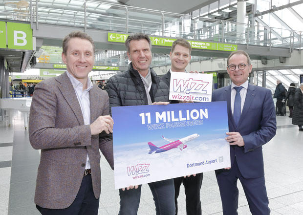 elfmillionster Wizz Air-Passagier am Dortmund Airport