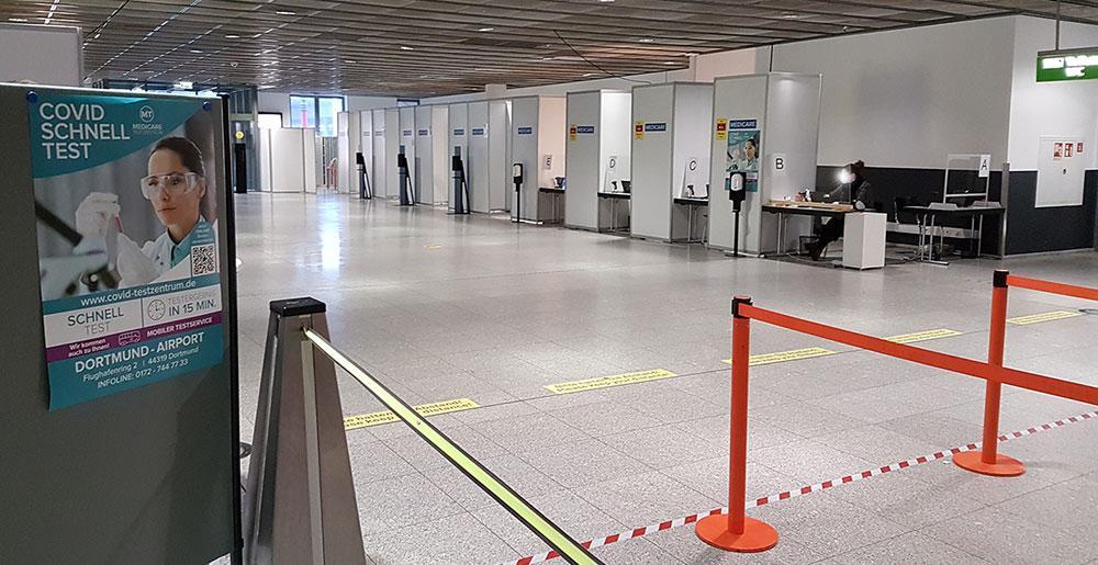 Testzentrum dortmund airport