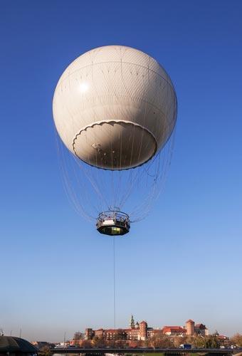 Ballon aussicht krakau polen