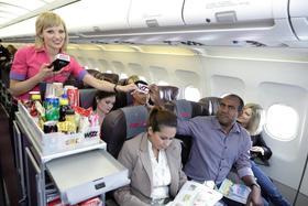 Zahlen mit der Wizz Air Card im Flugzeug