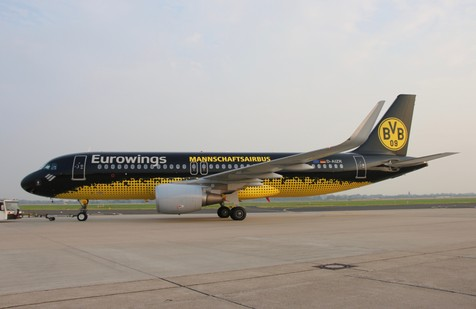 BVB Eurowings Maschine auf dem Rollfeld