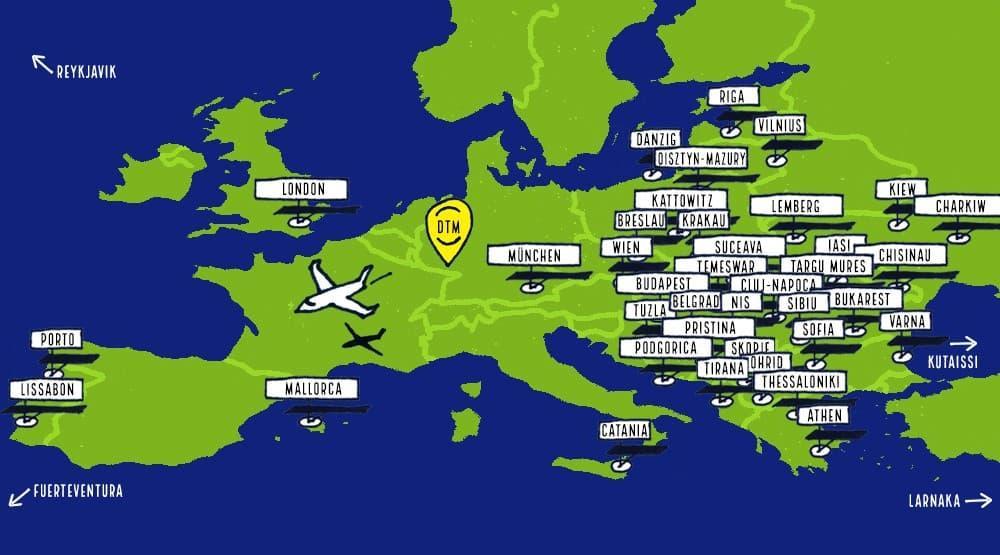 Flughafen dortmund ziele karte winter 2020 1