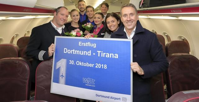 Erstflug: Dortmund - Tirana
