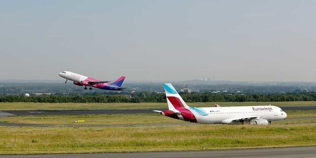 Flughafen dortmund startbahn flugzeuge