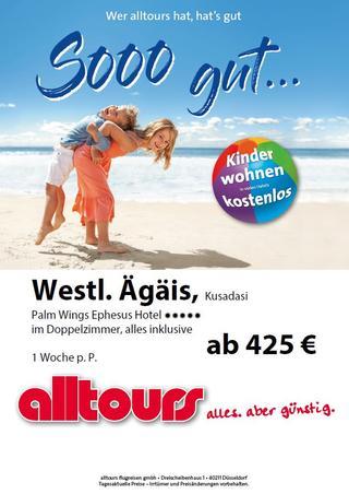 Angebot von alltours für eine Reise nach Kusadasi mit Flug ab Dortmund Airport