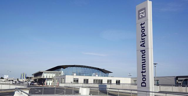Anfahrt zum   Terminal des Dortmund Airport