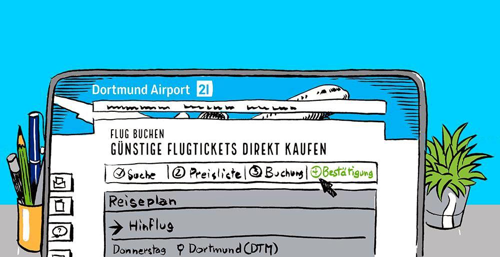 Buchungsseite dortmund airport