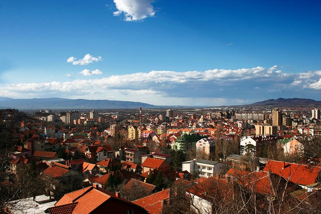 Blick ueber nis in serbien