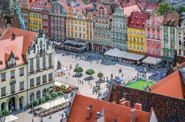 Breslau's Marktplatz von oben