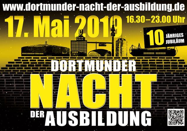 Postkarte zur 10. Dortmunder Nacht der Ausbildung am 17.05.2019