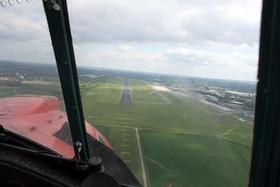 Rundflug mit dem Roten Baron - Anflug auf den Dortmund Airport