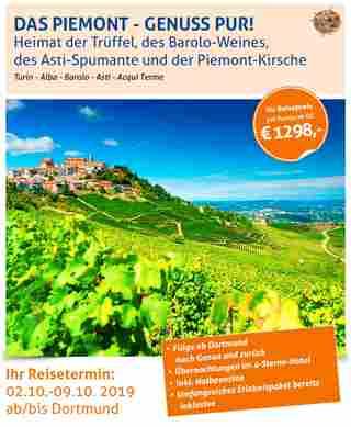 Piemont sonderflug mundo reisen dortmund airport