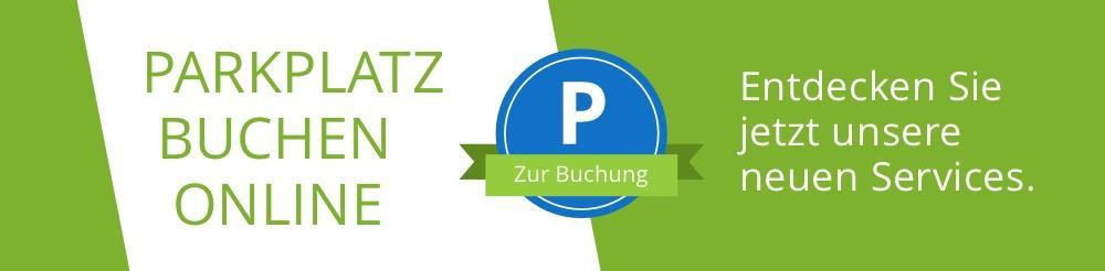 Banner Parkplatz Buchen am Dortmund Airport
